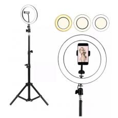 26cm Ring Light LED Selfie Photography Light + 7 ft 7 Feet Tripod stand -...