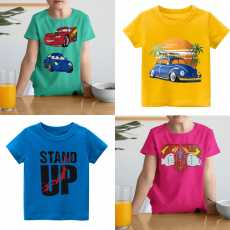 Summer Cotton Printed Tshirts For Kids