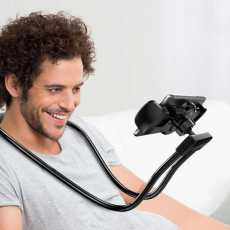 Lazy Bendable Flexible Hang Neck Phone Holder 360 Degree Rotation Mobile Stand
