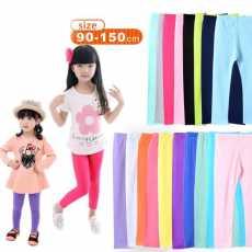Girls Leggings Autumn Fashion Elastic Candy Color Leggings Girl Pants Skinny...