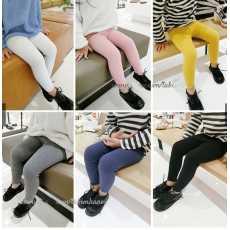 Pack Of 3 Random Colors Winter New Warm Lycra Rib Leggings For Girls