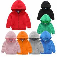 New time collection Pack Of 3 Random colors Zipper Hoodies For Kids