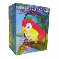 Talk Back Parrot Battery Operated Toy (Multi Color)