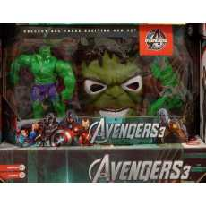 Avengers Three Soft GOn with Mask & Action Figure Super Hero Toy