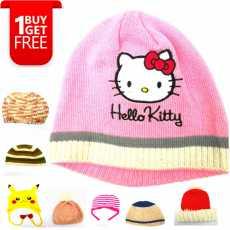 Winter wool cap kids Girls Buy 1 Get 1 Free Cap