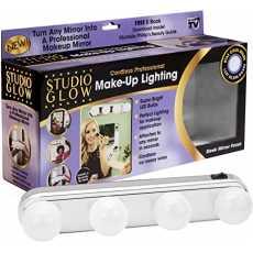 Portable Super Bright Vanity Mirror Studio Glow Make Up Lighting with 4 LED...