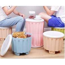 Storage Stool Storage Stool Can sit on a Stool Stylish Plastic Bench Thicken...
