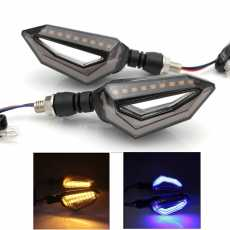 4 pcs Universal Motorcycle bike DRL INDICATOR WITH FLOW LIGHT Lava Style...