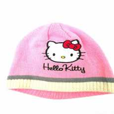 Winter wool cap kids kitty Pink