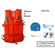 Life jacket swimming cap vest life jacket fishing pool ear plug goggles...