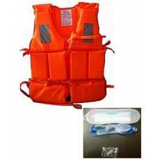 swimming vest life jacket fishing pool ear plug goggles