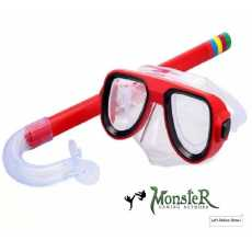 Swimming Goggles with Snorkel Set snorkeling dive sticks mask water sports.