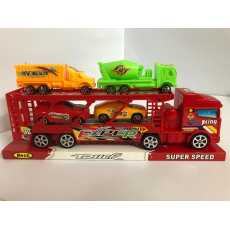 Transport Trailer Truck With Cars - Die Cast
