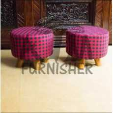 Pack of 2 wood stool Ottoman stool. Kitchen stool living home furniture