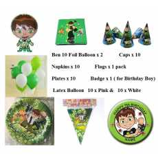 Ben 10 Themed Birthday Party Pack