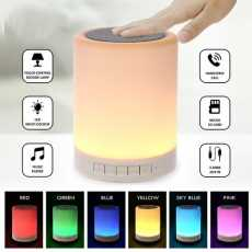 Wireless Portable Bluetooth Touch Color Control LED Lamp Speaker