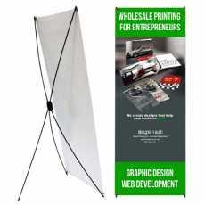 X-Banner Display Stand / Flex Banner Display Stand 5x2