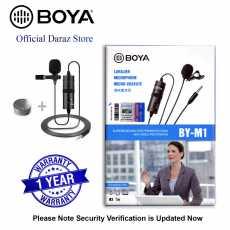 1 Year Official Warranty - Boya M1 Lavalier Collar Microphone for DSLR &...
