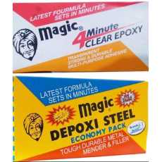 Pack Of 2 Magic Depoxi , Magic Epoxy Clear -کلیر اینڈ بلیک میجک پیک