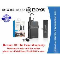 1 Year Official Warranty - BOYA BY-WM4 PRO-K5 Wireless Microphone System for...