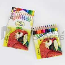 Dollár Color Pencil - Half Size: (12 Color)