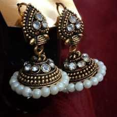 New sabool studio valvet beads fancy royal red treandy earrings