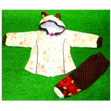 baby boys/girls winter hoodies clothing sets kids thick warm velvet clothes...