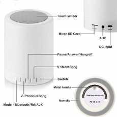 Bluetooth Speaker Mini with Led Light II Mini Speaker with Multi Led Colors...