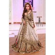 Kashee Designer Luxury Bridal Wedding Dress for Girls - Unstitched