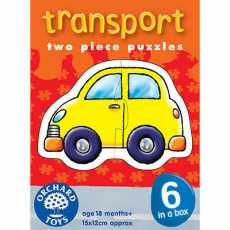 TRANSPORT TWO PIECE PUZZLE JIGSAWS PUZZLE