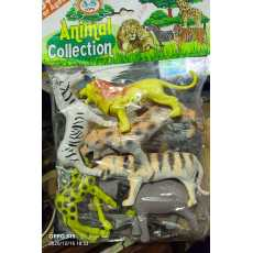 Pack Of 6 Zoo Animals Toys Collection Made With Unbreakable Rubber Nice Toy