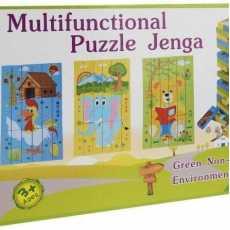 Multifunctional puzzle jenga