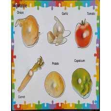 Vegetable Knob Puzzle 6 Pcs