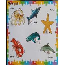 Amir Traderz Sea Animal 6 Pcs Knob Puzzle