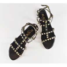 Women Sandal - Flat - Fancy - Roman Sandals - Black
