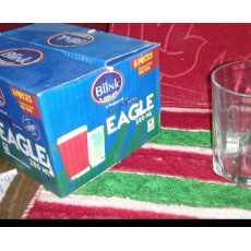 Set Of 6 Water Tumblers 280ml ( Blink Eagle Glass )