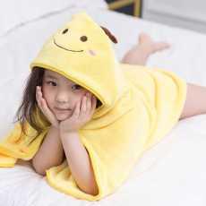 Lovely baby bath towel cute animal shape hooded baby bathrobe cloak blanket