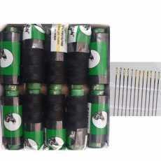 10 Falkon Black Sewing Thread with 15 Free Needles ( Falkon Traders )