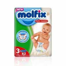 Molfix BABY PANTS 3 MIDI 62PCS