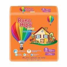 BONA PAPA BABY DIAPERS SMALL 72PCS