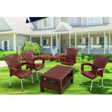 Super Relaxo Chair Set with Rattan Table