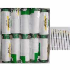10 Falkon White Sewing Thread with 15 Free Needles ( Falkon Traders )