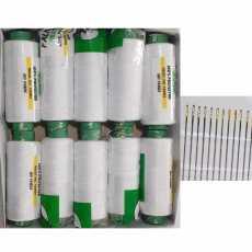 10 Falkon White Sewing Thread with 15 Free Needles ( Falkon Traders )