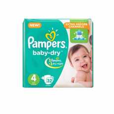 Pamper Diaper Butterfly Large Jumbo Pack 32 PC