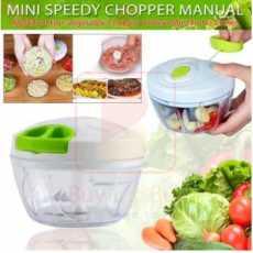 Mini Speedy Chopper Manual Hand Pull Vegetable & Meat Mini Turbo Cutter