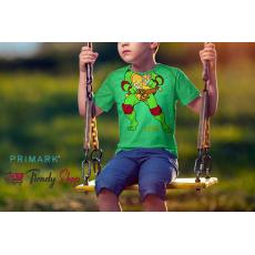 Primark Turtle Kids Green Cotton T-Shirt
