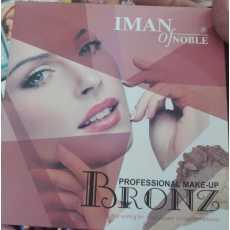 IMAN of NOBLE Professional Makeup Eyeshadow Pallette Bronz 9 Colors