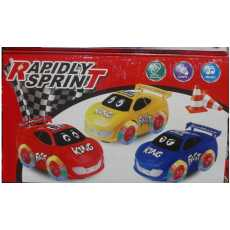 Rapidly Sprint King Fast Battery operated car with Music & Light Universal Wheel