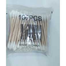 Ear Cleaning Wood Sticks Ears Bamboo Cotton Buds Cotton (100 PCS)