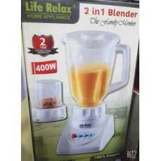 Life Relax 2 in 1 Blender 400 Watts 2 Year Warranty - Home Appliance